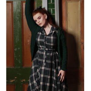 PinUp Girl Vintage Retro Plaid shirt dress